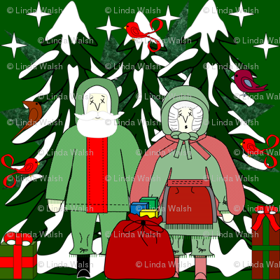 Call Me Margaretta Claus and Crazy Claus At Your Service Fabric Collection