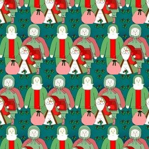 Santa and Mrs Claus Fabric Collection
