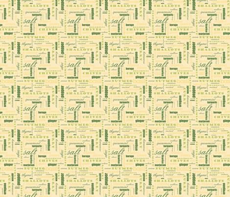 The Spice of Life - 4in (tangerine) fabric by studiofibonacci on Spoonflower - custom fabric