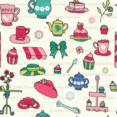 Tea & Cupcakes - 4in