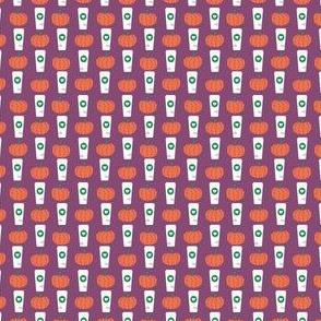 micro print pumpkin spice latte fabric