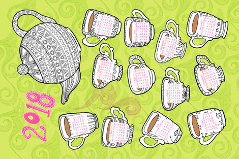 Storm in a Teacup fabric by seesawboomerang on Spoonflower - custom fabric