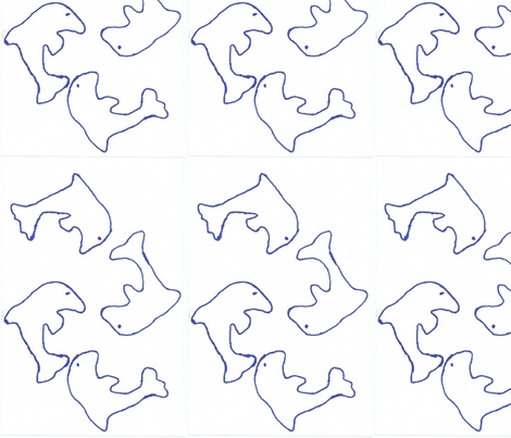 playing dolphins fabric by abcbrentwoodgifts on Spoonflower - custom fabric
