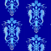 Damask Ocean Blues-ch
