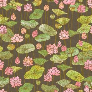 Lotus Flowers {Grey}