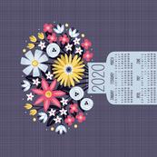 2020 Garden Joy in a Vase Tea Towel Calendar