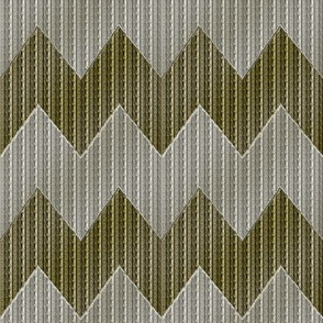 Fake Gold and Fake Silver Chevron_Stripes