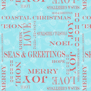 Coastal Christmas Words