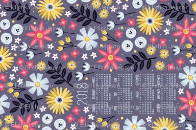 Garden Joy 2018 Tea Towel Calendar