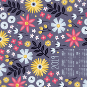 Garden Joy 2019 Tea Towel Calendar