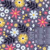 Garden Joy 2019 Tea Towel Calendar