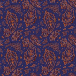 Navy and Orange Paisley-ch-ch