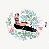 2018 bird tea towel calendar - toucan by andrea lauren