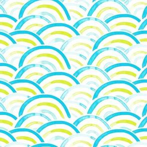 rainbows (teal, citron)