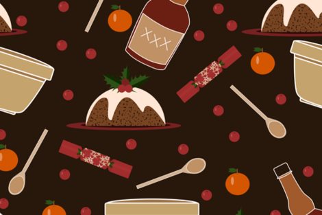 Christmas Pudding fabric by meredith_watson on Spoonflower - custom fabric