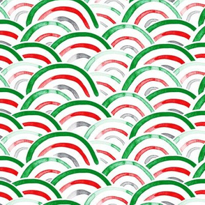 holiday scallops (green, red, grey)