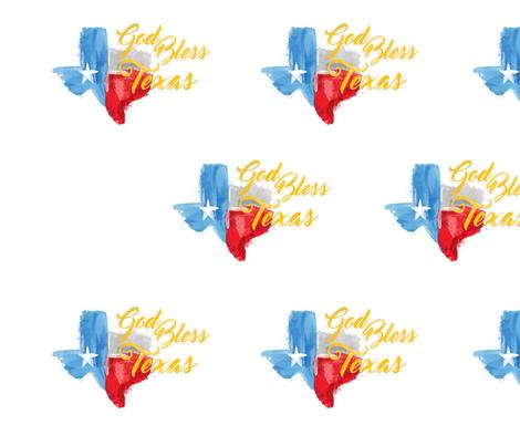 Hurricane Season, God Bless Texas fabric by thetwistedbit on Spoonflower - custom fabric