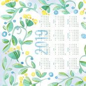 Sweet Watercolor Blooms 2019 Tea Towels_Hearts