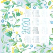 Sweet Watercolor Blooms 2020 Tea Towels_Hearts
