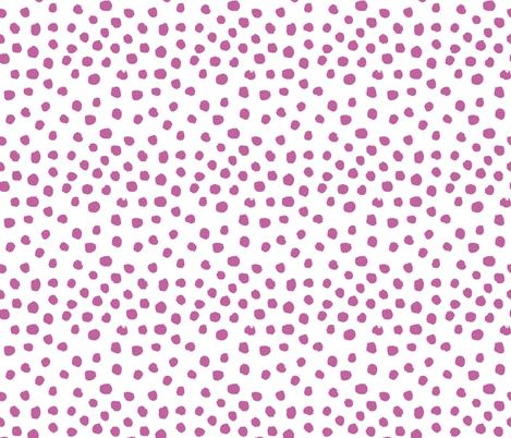 dark lilac purple dots fabric by charlottewinter on Spoonflower - custom fabric