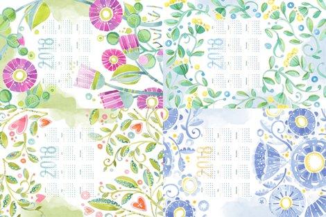 Rp_watercolor_vinesflorals_tea_towel_calendar_2018_2_shop_preview