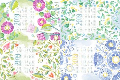 Rp_watercolor_vinesflorals_tea_towel_calendar_2019_shop_preview