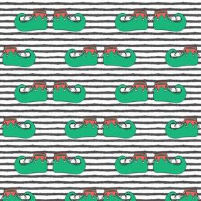 elf shoes (grey stripes)
