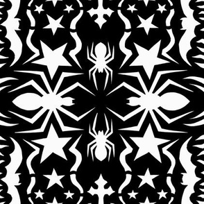 spider snowflake black