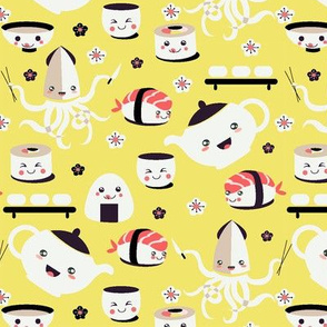 Yellow Kawaii Sushi