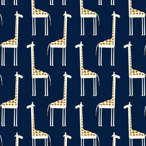 cute giraffes on navy