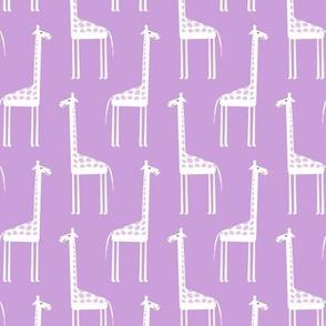 cute giraffes on purple