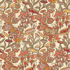 Woodcut Garden {Orange Blossom}