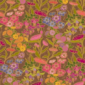 Woodcut Garden {Cloisonne}