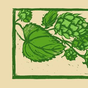 hops block print