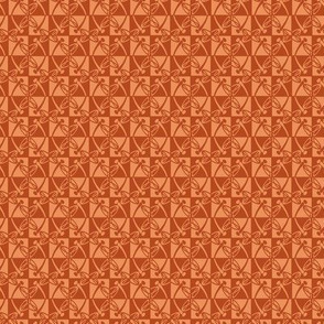 Checkered Reflections (Ginger & Peach, small)