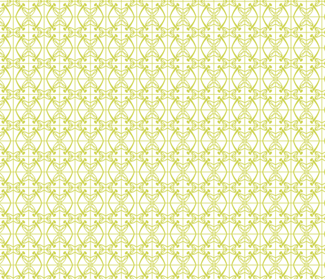 Reflections (Chartreuse) fabric by gingerprints on Spoonflower - custom fabric