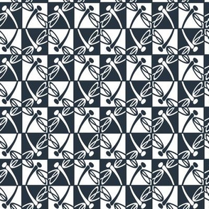 Checkered Reflections (Navy)