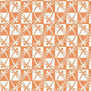 Checkered Reflections (Peach)