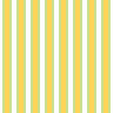 Sweet Shop Stripe - Narrow Ferny Green Ribbons with Orange Fizz and Icy Cream fabric by rhondadesigns on Spoonflower - custom fabric