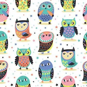 Pastel owlets