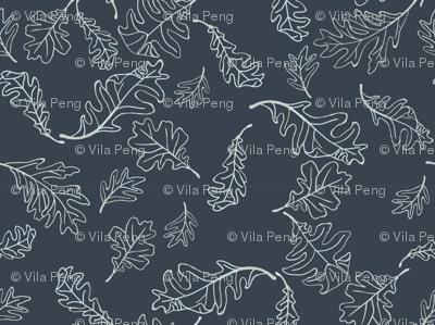 Leaves Doodle_Indigo