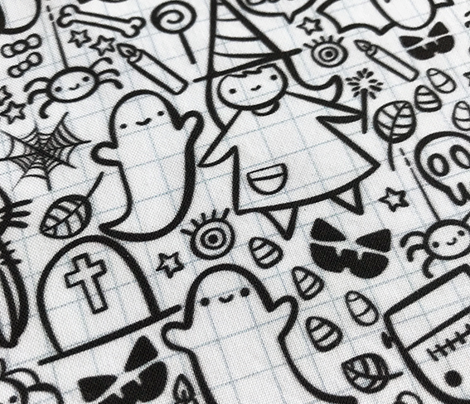Halloween trick or treat doodles