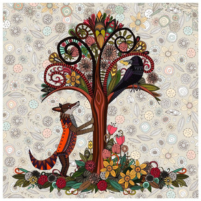 fox and crow 18 inch panel