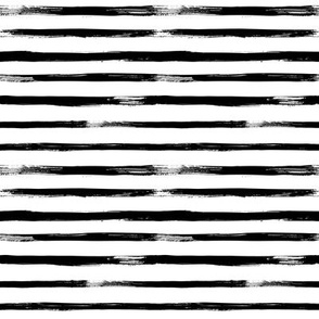 Black and White Stripes Watercolor