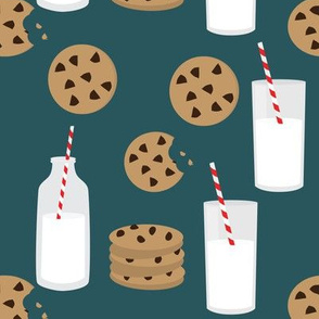 Milk and Cookies // Teal