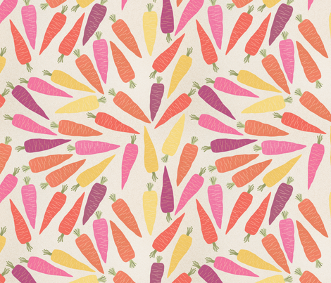 recolte_de_carotte_ fabric by nadja_petremand on Spoonflower - custom fabric