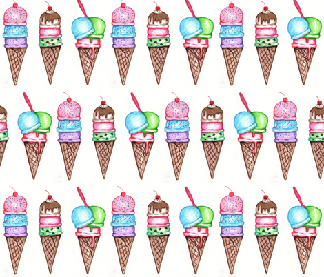 Gelato  fabric by dearling_design_co_ on Spoonflower - custom fabric