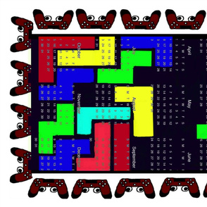 Tetris gamer towel