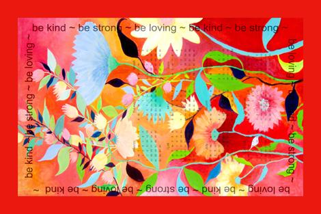 happynewyear tea towel fabric by marigoldpink on Spoonflower - custom fabric