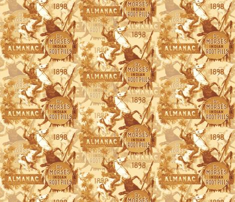 Dr Morse's Root Pills Print - orange fabric by engravogirl on Spoonflower - custom fabric